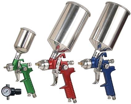 Hvlp Spray Gun Kit >> Vaper 19221 Hvlp Spray Gun Kit With Aluminum Case