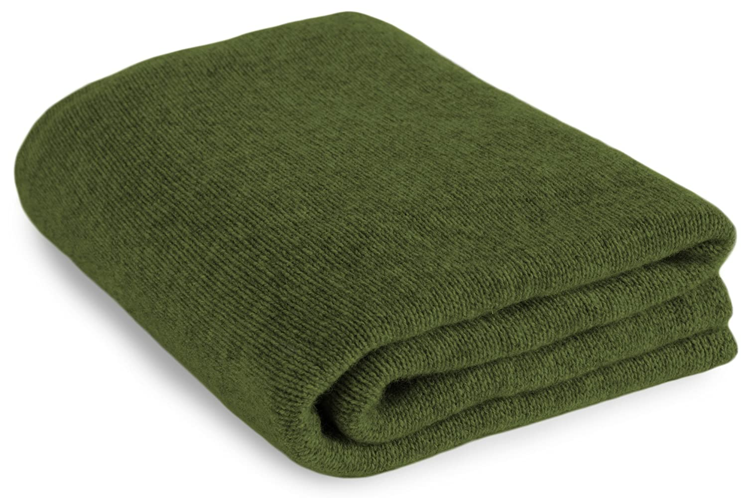 Large 100 %カシミアBed Blanket Throw – Irishグリーン – Made to Order、2サイズ可能 – Made in Scotland Extra Large (160cm by 208cm) グリーン LC093_irishgreen B01N9AKAUU  Extra Large (160cm by 208cm)