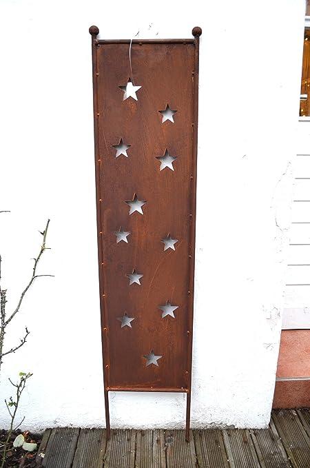 Hkt Home Deco Gartenstecker Sterne Schild Rost Stern Stecker