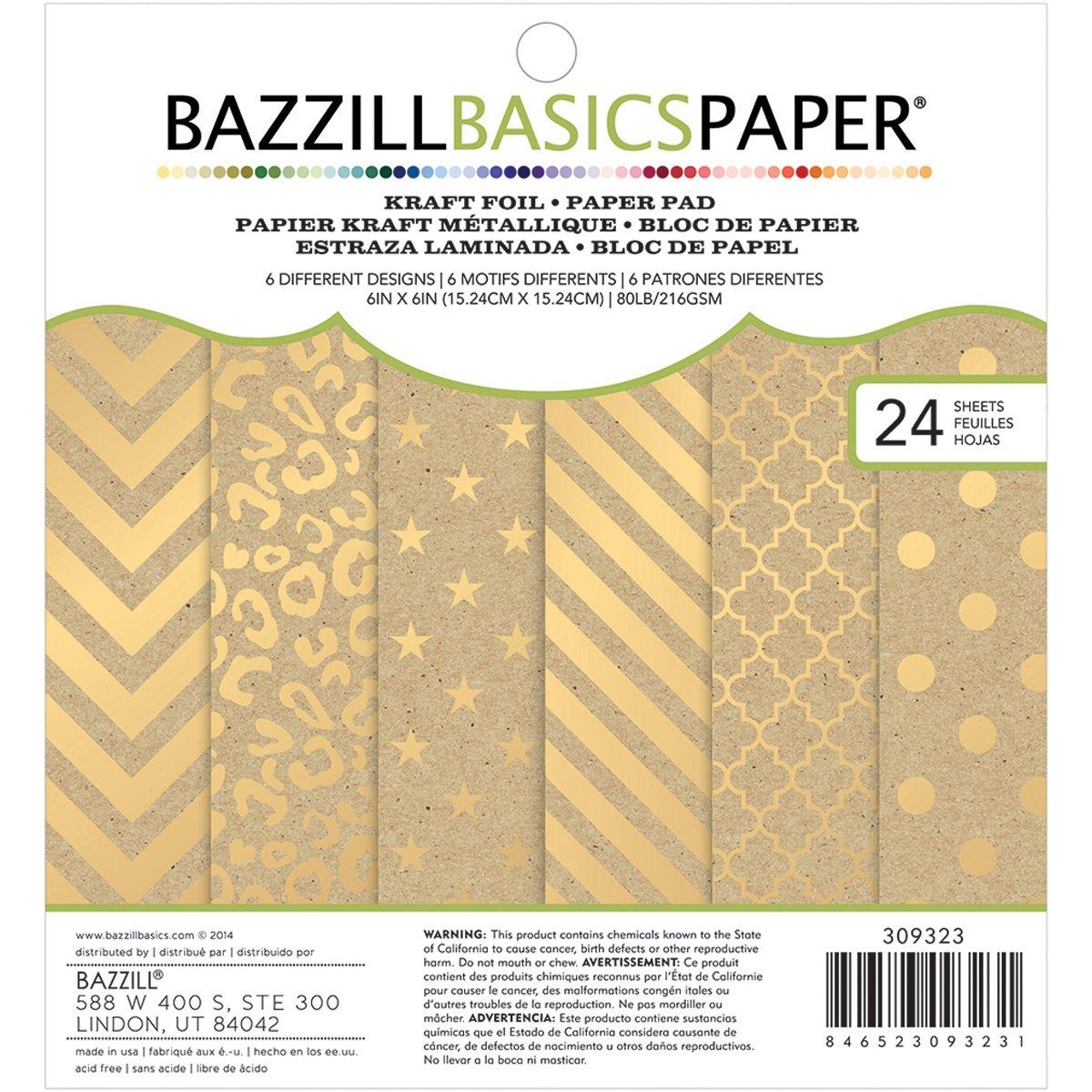 Gold color cardstock paper 5x7 - Amazon Bazzill Basics Cardstock Kraft Pad 24 Pack 6 X 6 Gold Jeuxipadfo Gallery