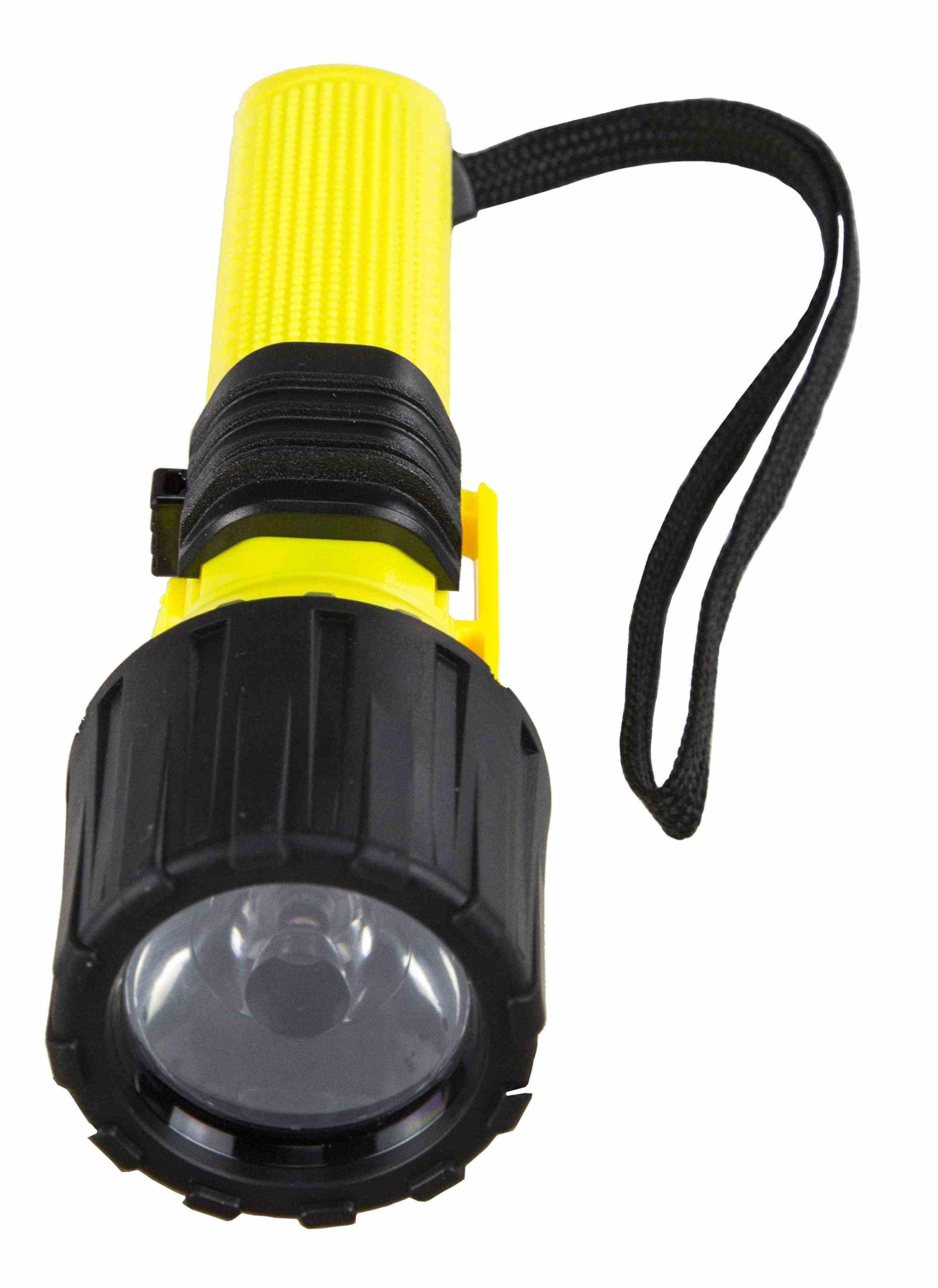 Intrinsically Safe LED Flashlight - C1D1 / C2D1 - 383' Beam - IP68 - Switch Lock - MSHA Rated