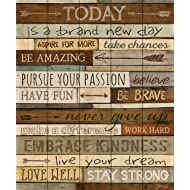 Today is a Day Inspirational Phrases 21 x 18 Wood Pallet Wall Art Sign Plaque
