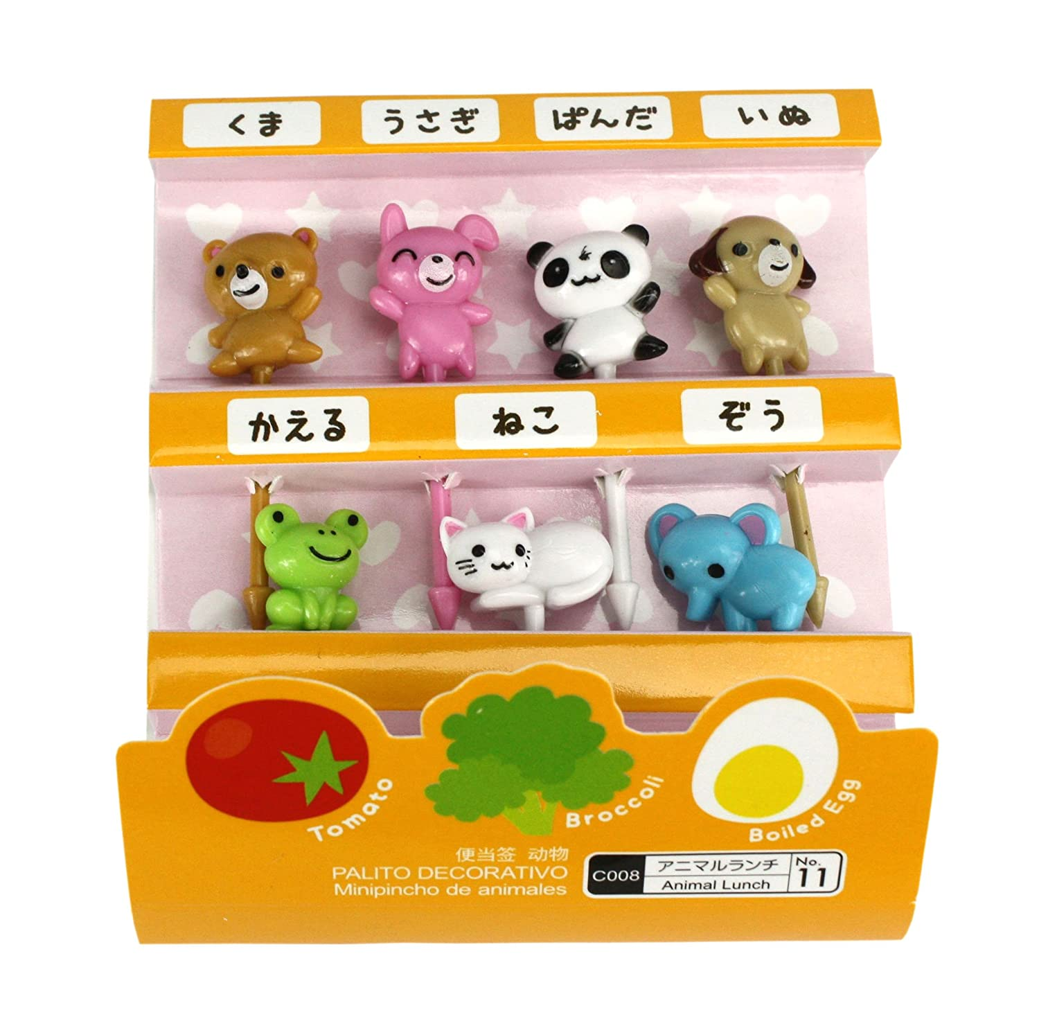 Cute Japanese Food Picks for Kids Bento Box Lunch - Animal Designs Daiso
