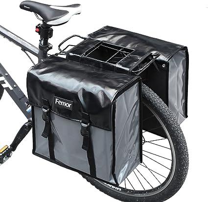 Juego de Funda para la Lluvia Cesta Trasera para Bicicleta ANZOME Cesta para Bicicleta Cesta de Almacenamiento Cesta Trasera Reflectante Impermeable