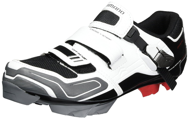 Shimano MTB - Zapatos de Bicicleta de montaña 39 EU|Multicolor (Blanco/ Negro/ Rojo/ Gris)