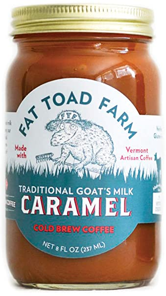 Fat Toad Farm Traditional Goats Milk Caramel Sauce, Cold Brew Coffee, 8fl oz Jar