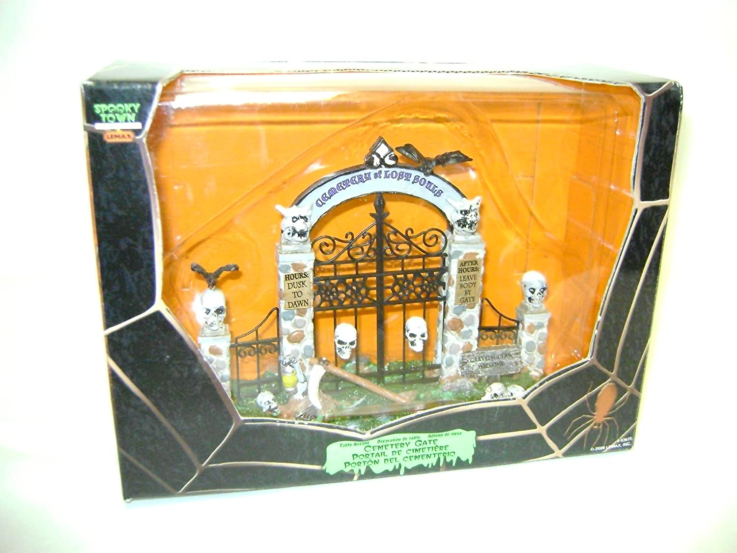 Lemax Cemetery Gate Table Accent Halloween Decor