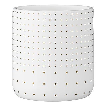 Amazon Bloomingville A75800049 White Stoneware Flower Pot With