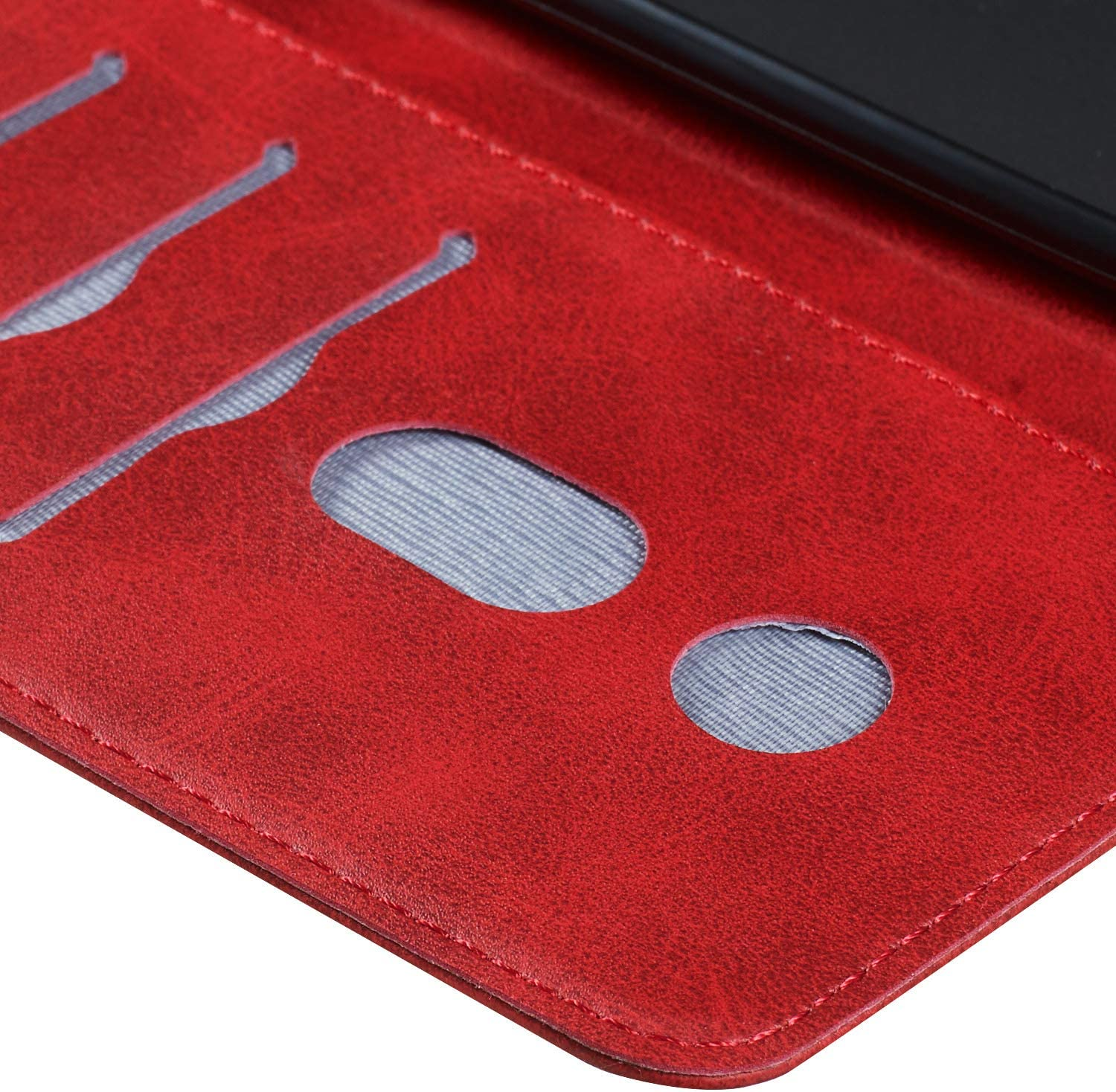 - LOYYO070095 Red Lomogo Galaxy J6+ Core Case Leather Wallet Case with Kickstand Card Holder Shockproof Flip Case Cover for Samsung Galaxy J6+ J6 Plus J6Plus