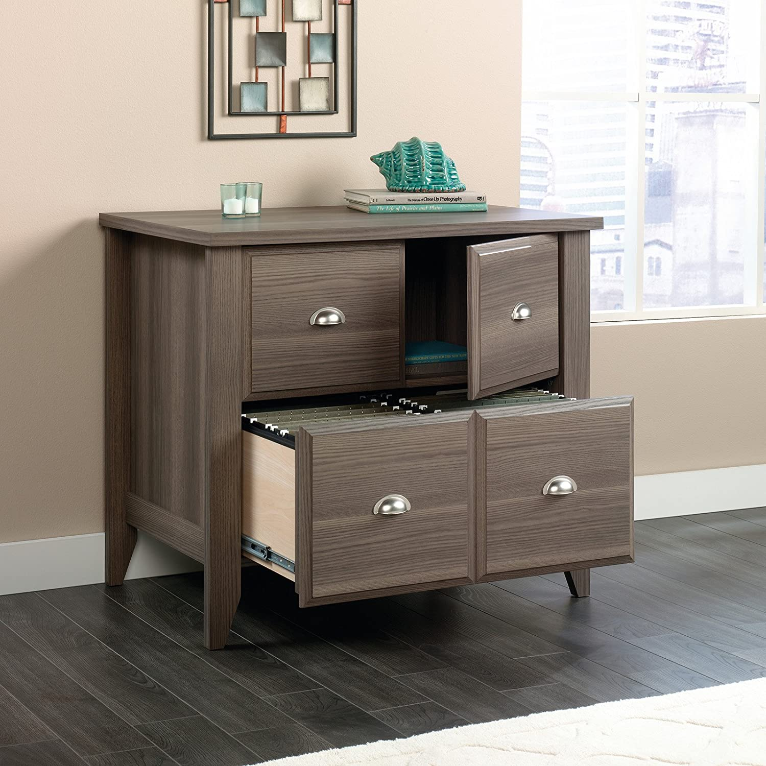 amazoncom sauder shoal creek lateral file in diamond ash home u0026 kitchen
