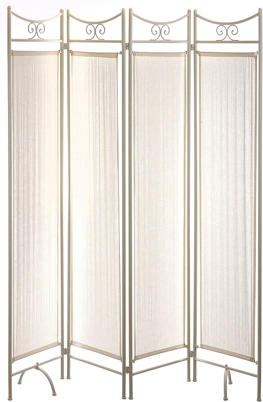 Nahuel Home - Biombo Forja Marfil 4 Paneles 160 X 180 Cm: Amazon.es: Hogar