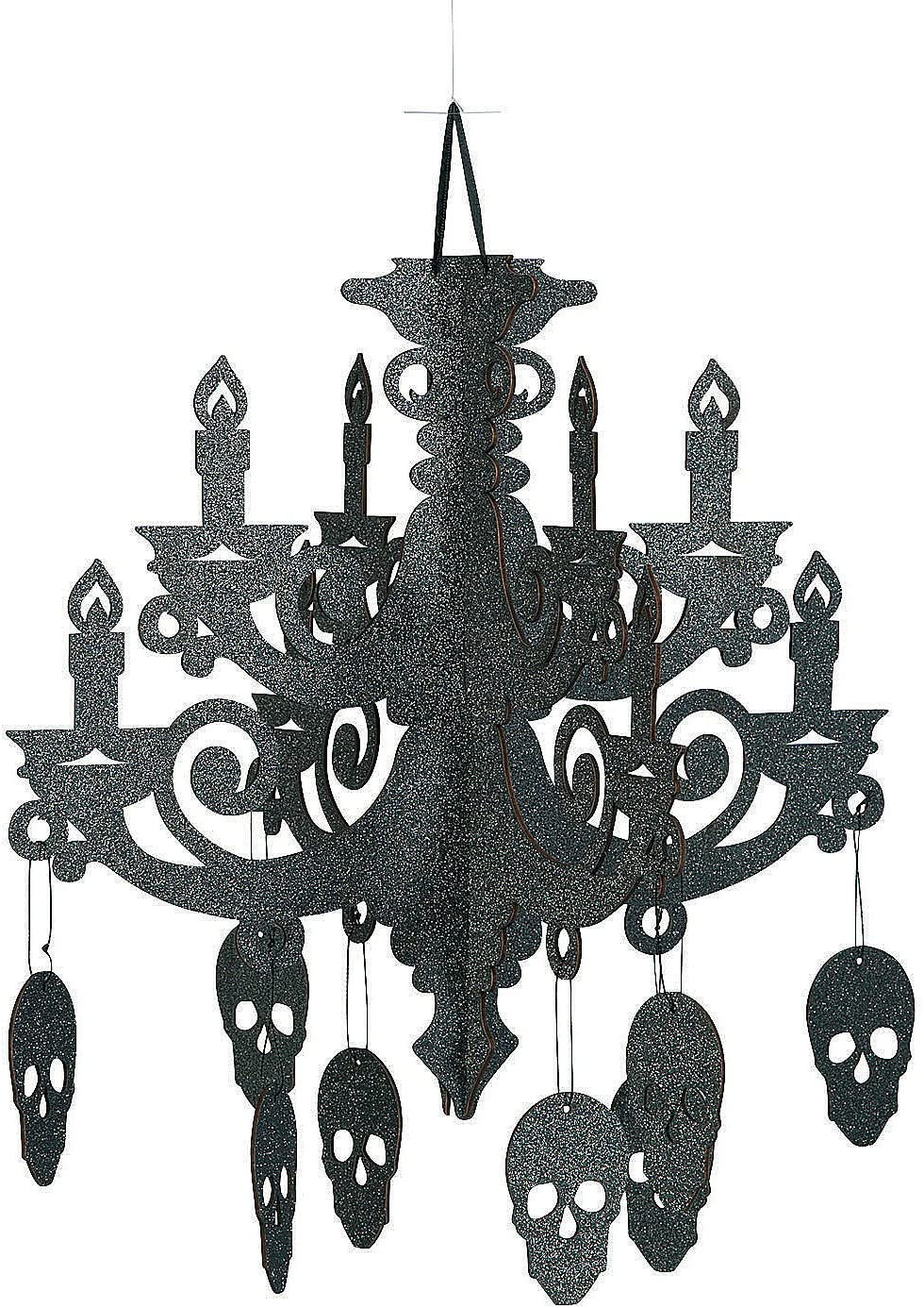 Fun Express - Spooky Floral Chandelier for Halloween - Party Decor - Hanging Decor - Misc Hanging Decor - Halloween - 1 Piece