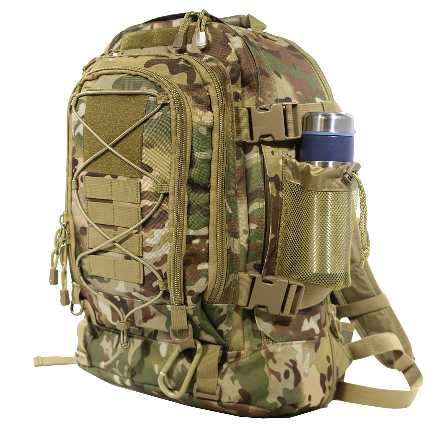 ARMYCAMOUSA 40L Outdoor Expandable Tactical Backpack Military Sport Camping Hiking Trekking Bag (08001 Multicam)