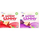 Plum Organics Kids Jammy Sammy Sandwich Bar Variety Bundle: (1) Strawberry Jam & Peanut Butter 5.15oz and (1) Grape Jelly & Peanut Butter 5.15oz (2 Pack Total)