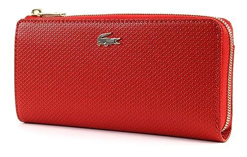 LACOSTE Chantaco Slim Zip Wallet High Risk Red: Amazon.es ...