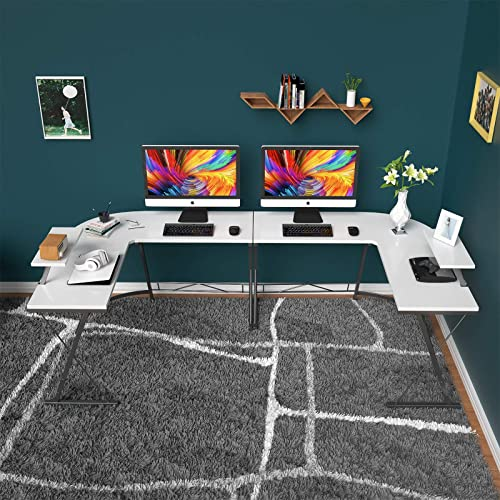 Foxemart L Shaped Desk Home Office Desk