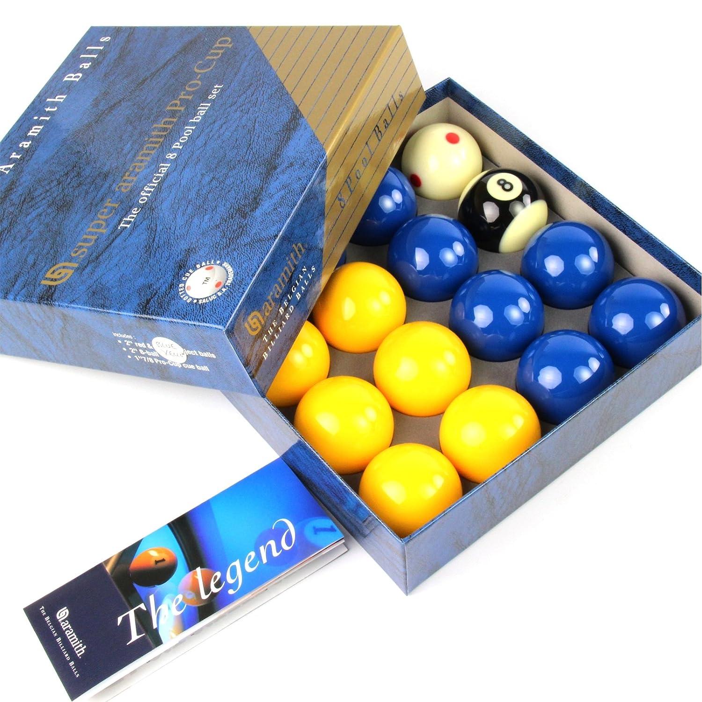 Produit exclusif Super Aramith PRO CUP Bleu et Jaune billes de billard 2 12, 7 mm
