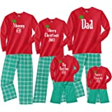 Personalized Custom Text with Elf Hat Matching Family Christmas Outfits