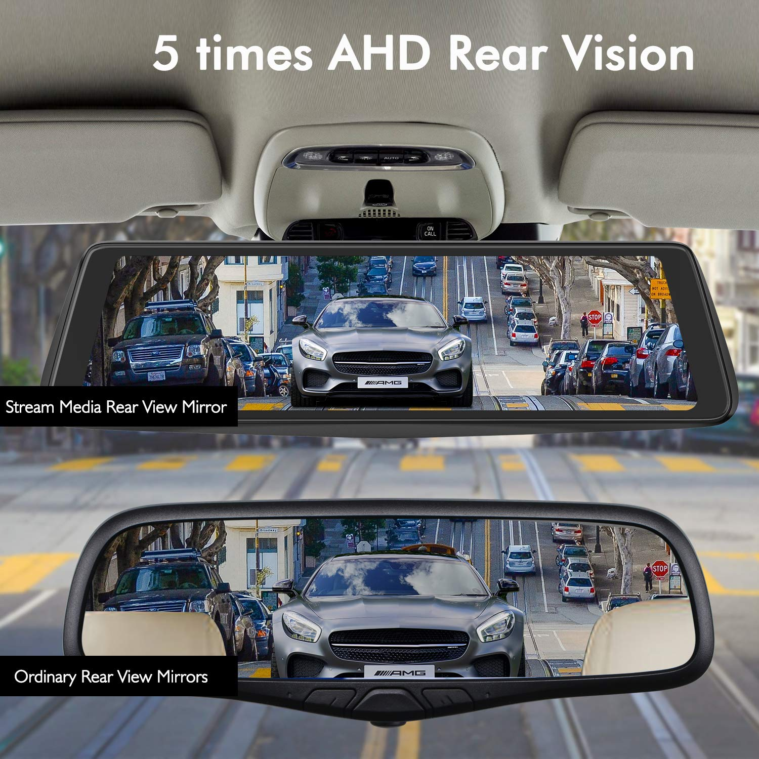 X1pro Rear View Mirror Dash Cam 988 Full Touch Screen Bmw E60 Models Fuse Box Positions Tech Dual Lens With 1296p Front And 720p Super Night Vision Stream Media Backup Camera Kit