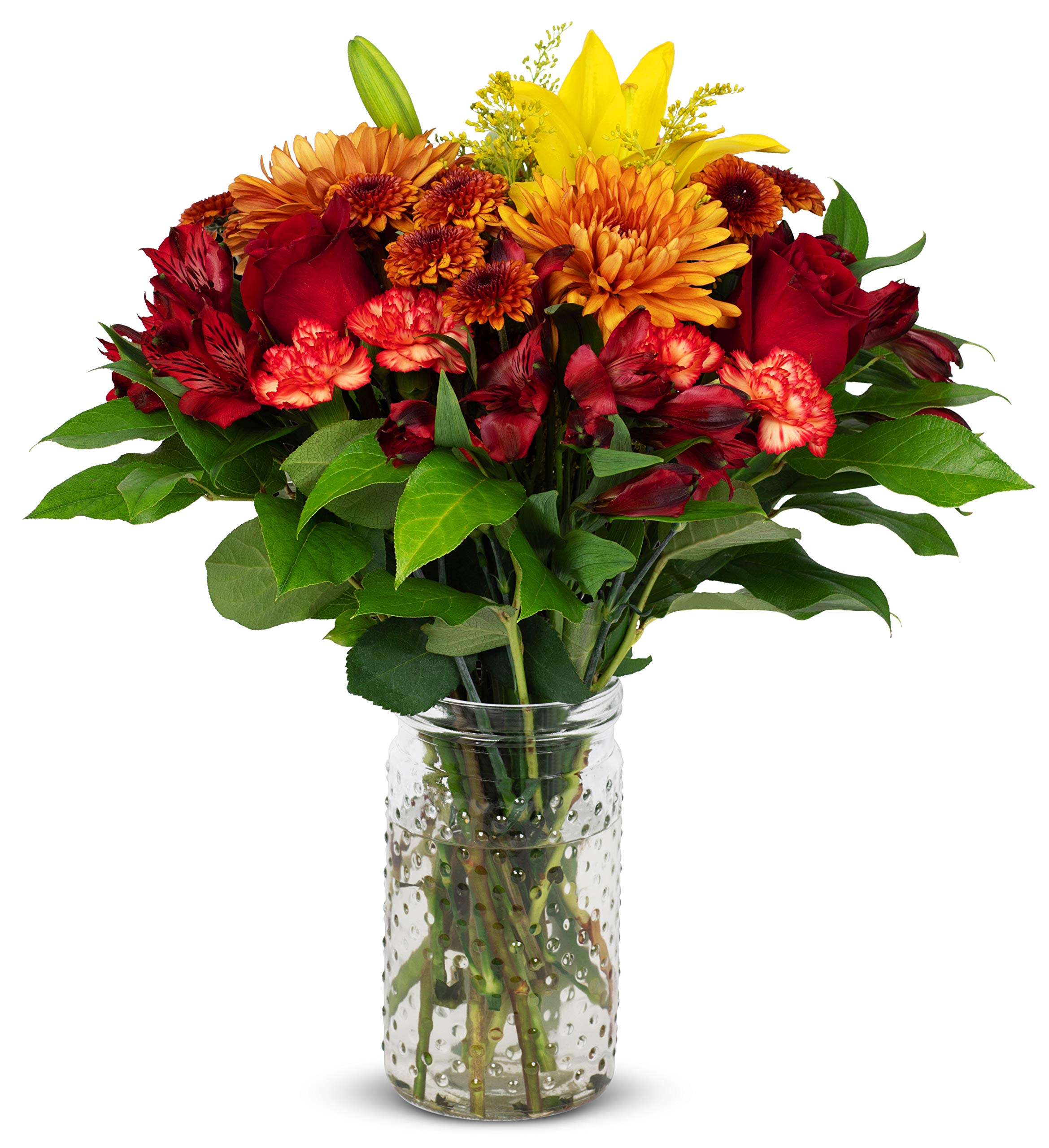 Benchmark Bouquets Harvest Delight, With Vase (Fresh Cut Flowers) by Benchmark Bouquets