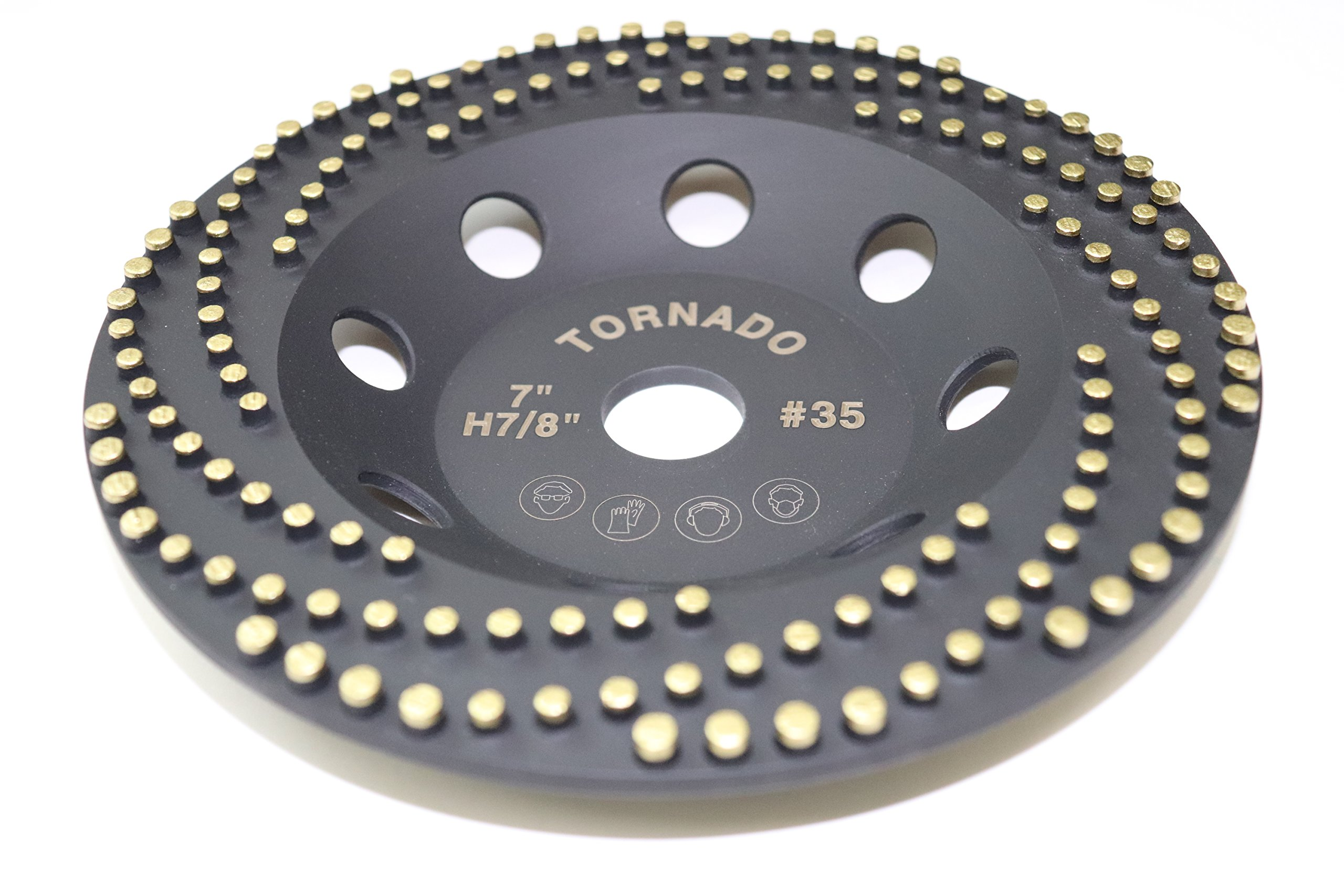 Tornado 7'' Diamond Cup Grinding Removing Disc Wheel with CDB Newest Technology (Tornado, 7'')