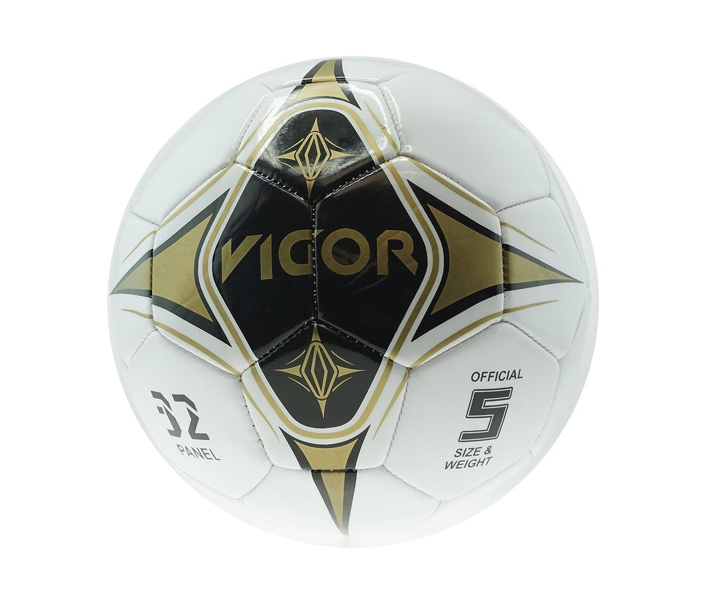 mozlly balón de fútbol blanco con negro y dorado colores diseño ...