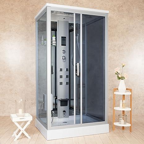 Vorich Box Doccia Idromassaggio Sauna E Bagno Turco 110x90cm Element
