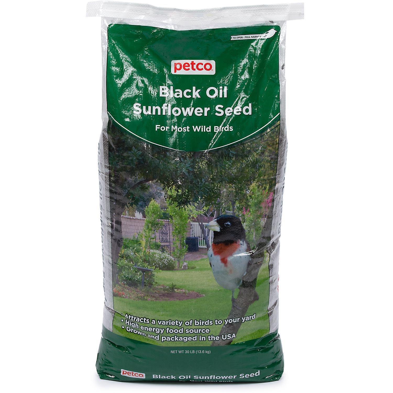 Petco Black Oil Sunflower Seed Wild Bird Food, 30 lb Bag, 30 LBS by Petco
