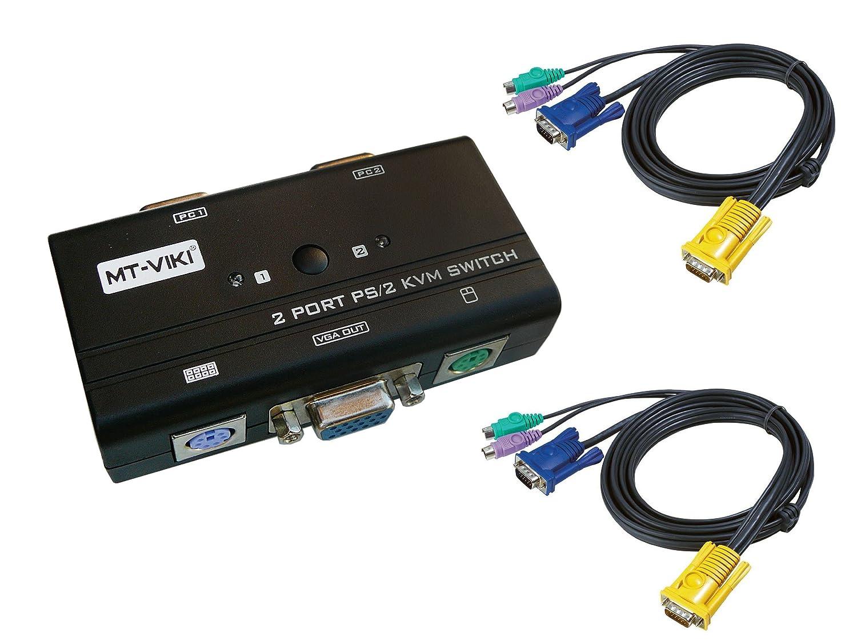 mouse schermo con cordicella PS2 VGA -SWITCH KVM-4 porte manuale KVM Scatola di condivisione tastiera