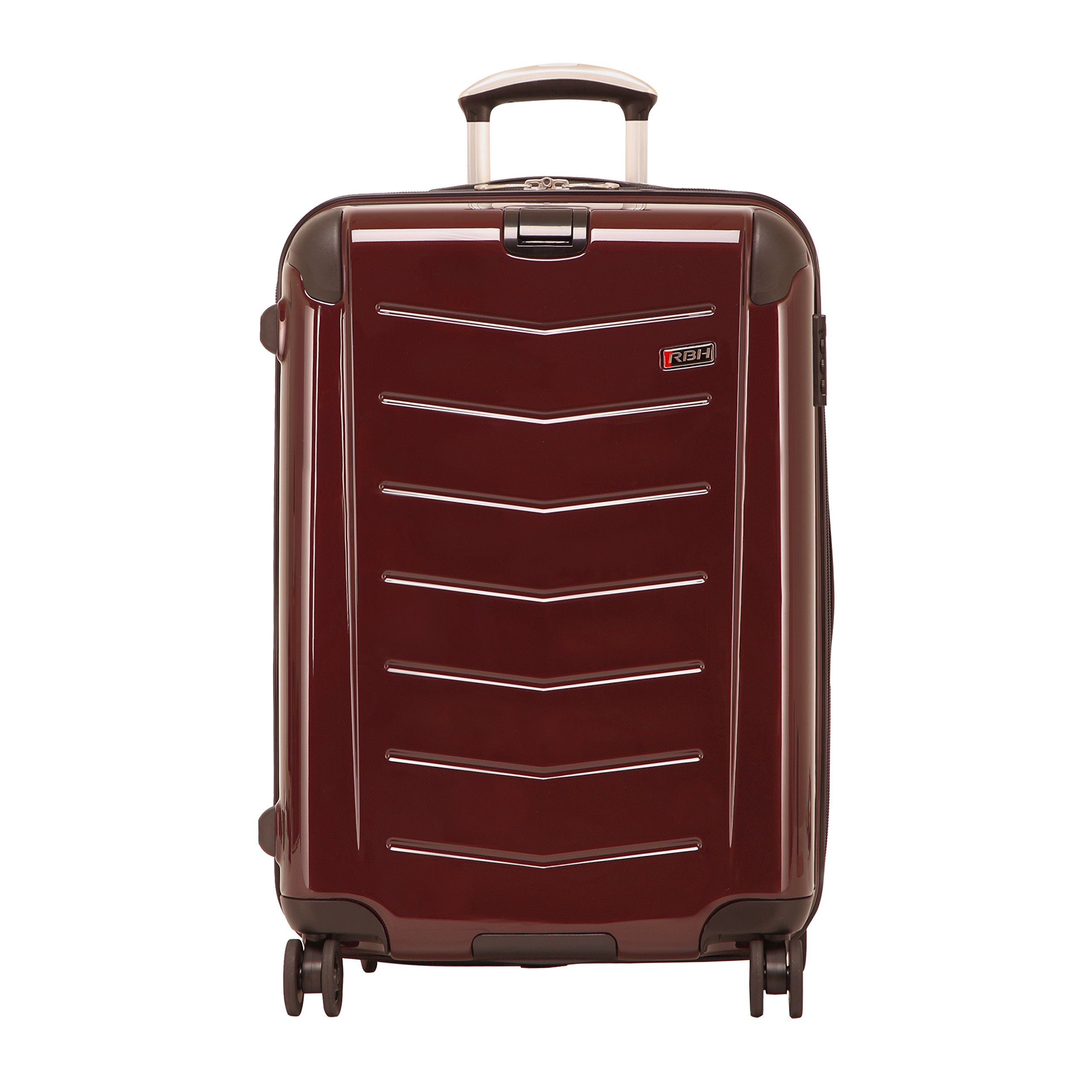Ricardo Beverly Hills Luggage Rodeo Drive 25-Inch 4-Wheel Expandable Upright, Black Cherry, One Size
