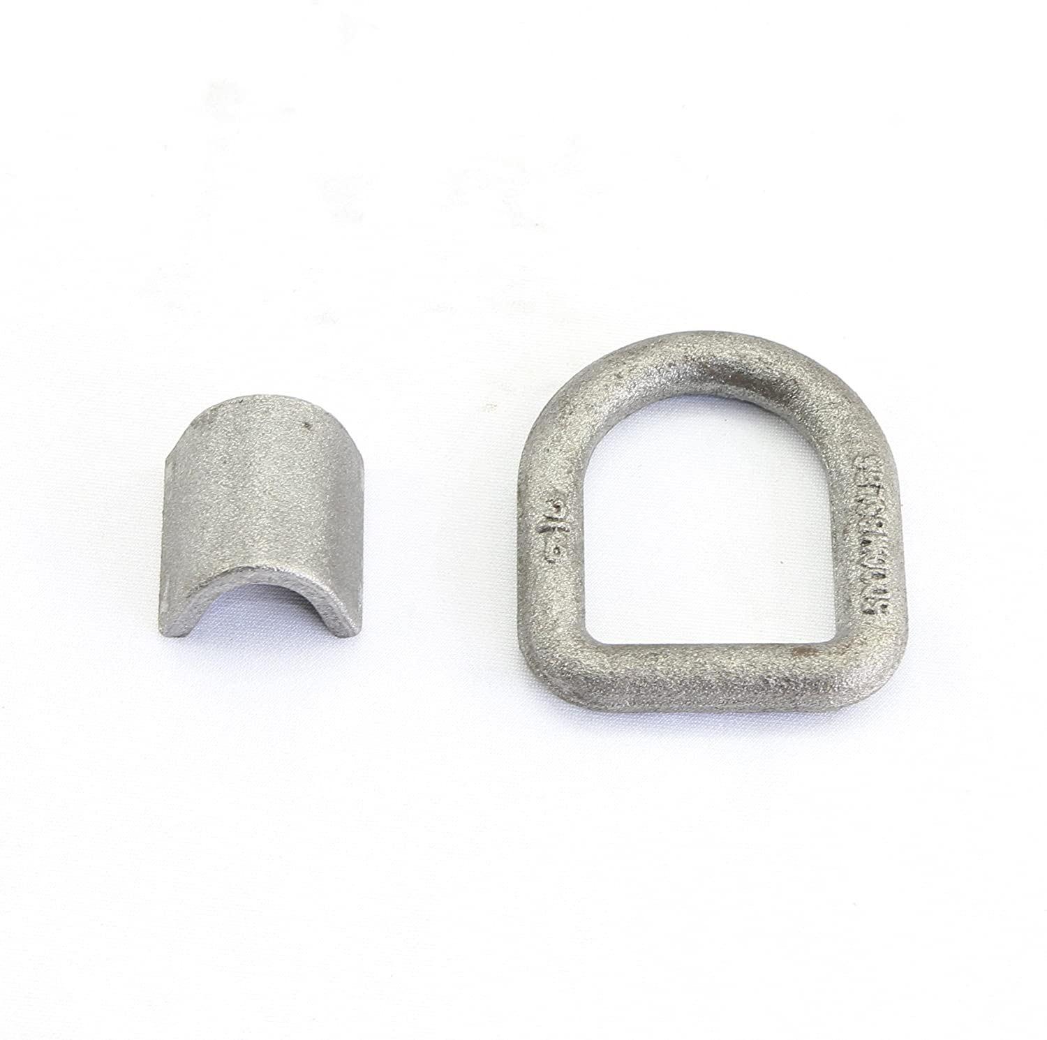 Pack of 4 3//8 5,000 Lbs Load Capacity Weld-on Forged Flip D-ring Anchor