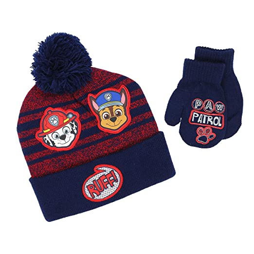 54ff635d2 Nickelodeon Paw Patrol Boys Girls Beanie Hat and Mittens Set (Toddler)