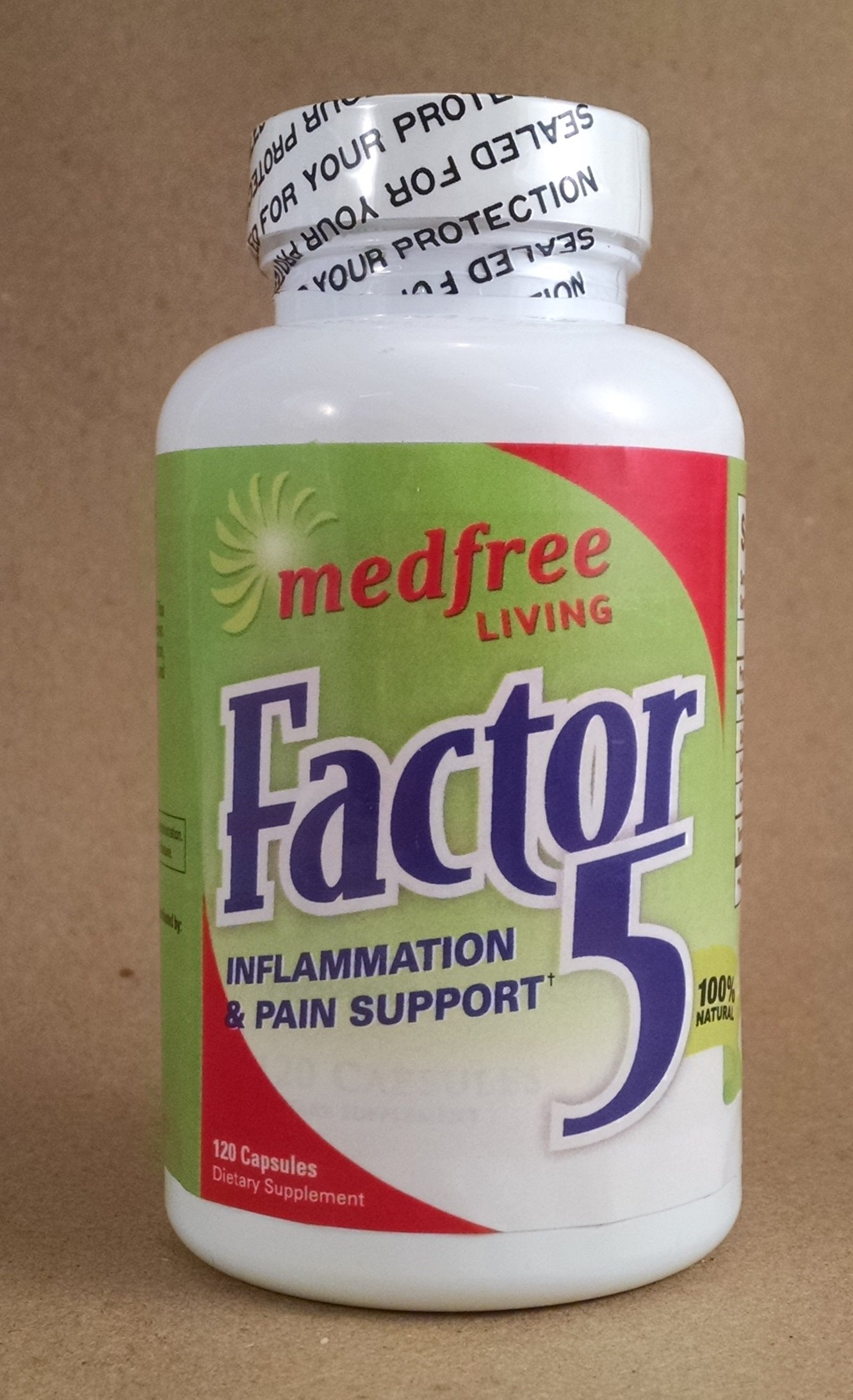 Factor 5 - 120 Capsules - Pain Management & Inflammation Relief Product