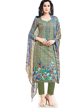 f6797ced42 Pakistani Suit for Women, Party Wear, Cambric Cotton, Heavy Embroidery  Patch Work, Semi Lawn Bottom, Printed ...