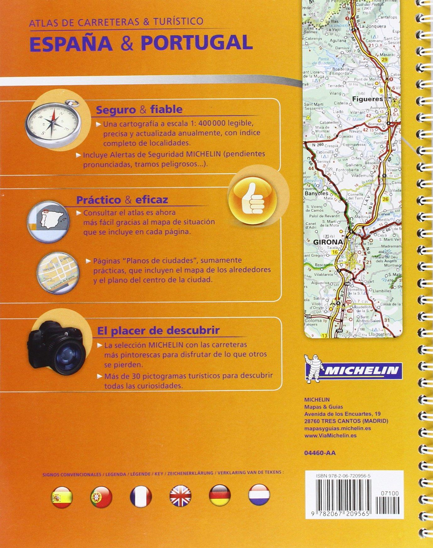 Atlas de carreteras y turístico España & Portugal formato A-4 Atlas de carreteras Michelin: Amazon.es: Vv.Aa, Vv.Aa: Libros