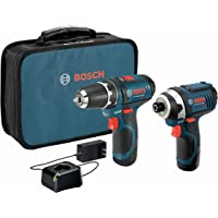"""Bosch CLPK22-120 Kit combinado de 2 herramientas de 12 V máx. con Taladro/Atornillador de 3/8"""", Atornillador de impacto…"""