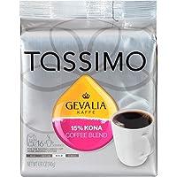 Gevalia 15% 混合科纳咖啡,深度烘培,适用于 Tassimo 咖啡机的 T-Disc 胶囊,16 个(对应每杯约310ml)