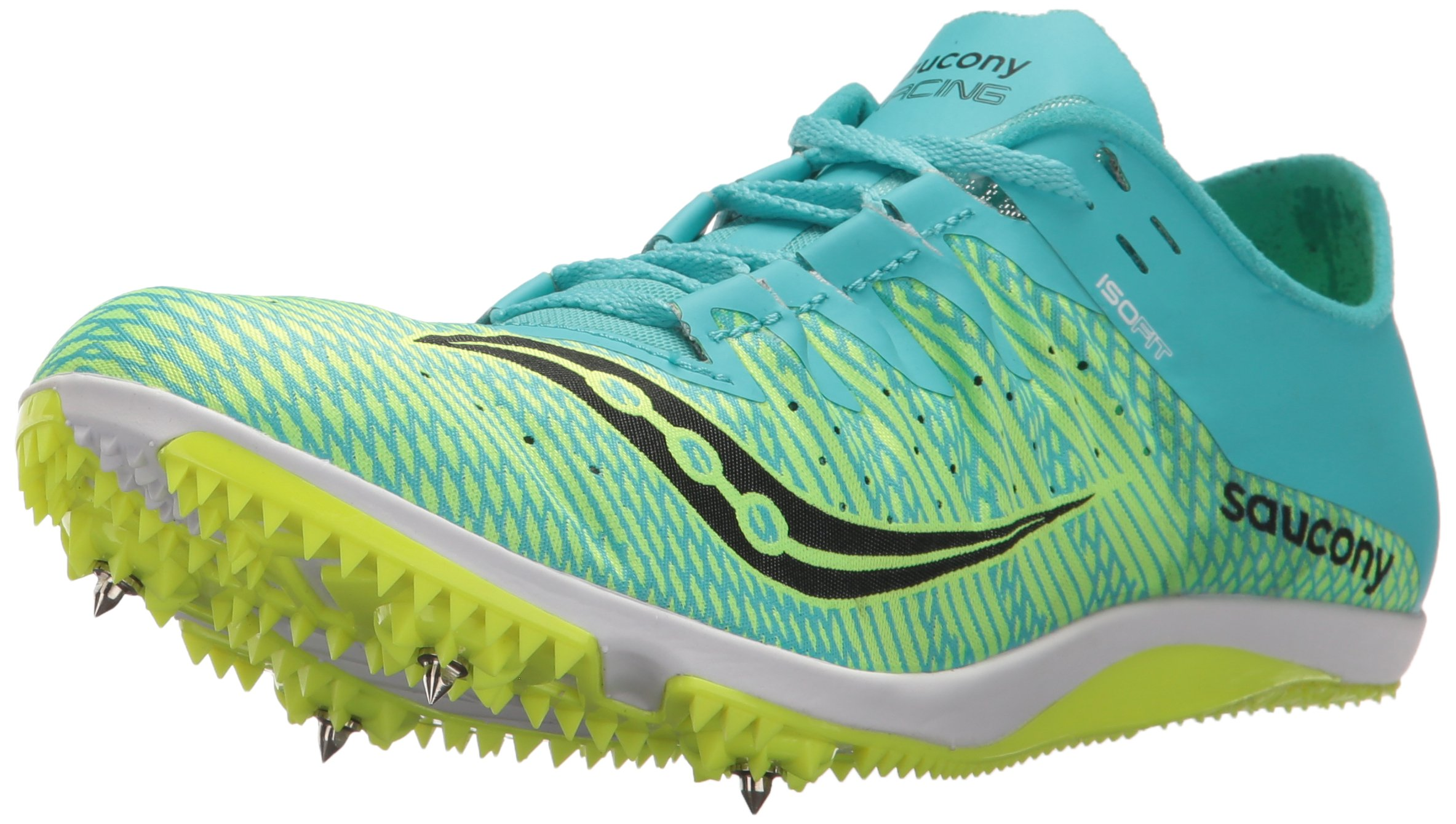 Saucony Women's Endorphin 2 Track and Field Shoe, Green/Blue, 5 Medium US