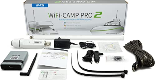 Alfa WiFi Camp Pro 2 Long Range WiFi Repeater RV Kit