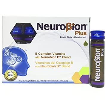 Neurobion Plus Liquid Dietary Supplement B Complex 10 Vials