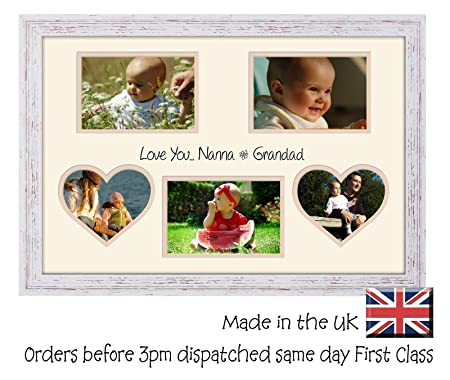 Nanna & Grandad Photo Frame Double Mounted Love You for 6\