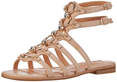 Buffalo David Bitton Buffalo Shoes 15bu0230 Leather PU, Spartiates Femme, (Nude 01), 36 EU
