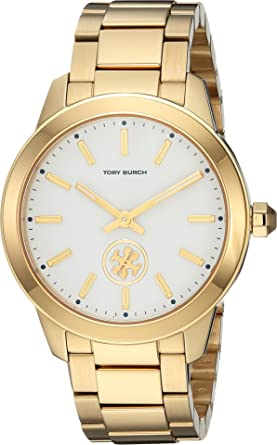 0d942fa40ce4 Amazon.com  Tory Burch Women s Collins - TBW1200 Gold One Size  Watches