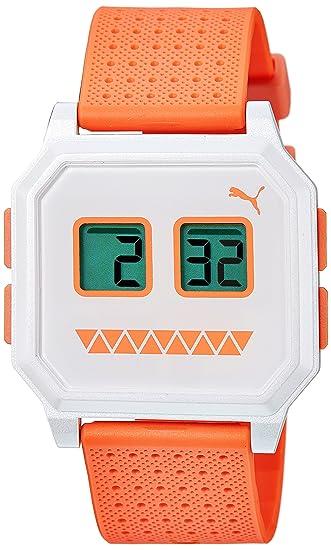 0603d92db98c PUMA PU910951015 - Reloj digital de cuarzo unisex con correa de plástico