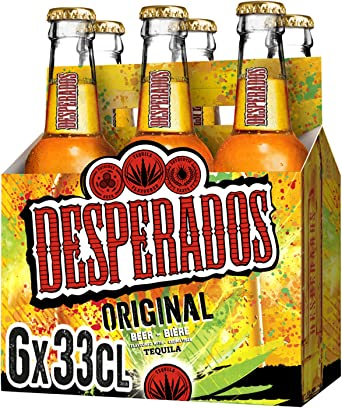 Desperados Cerveza - Pack de 6 botellas x 330 ml (Total: 1.98 L ...