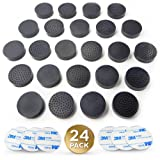 24 PACK Plant & Flower Pot Feet | Invisible Rubber Risers with Upgraded Non Slip Surface Grip for Better Stability | INCLUDES 24 Self-Adhesive Sticky Pads