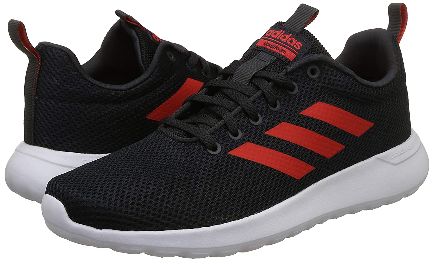 save off edc81 d4cf2 Adidas Mens Lite Racer CLN CarbonHirereFtwwht Running Shoes-12 UKIndia  (47.33 EU) (B96572) Buy Online at Low Prices in India - Amazon.in
