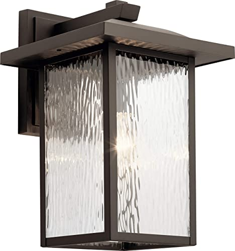 Kichler 49926OZ Capanna Outdoor Wall Sconce, 1-Light 100 Watts, Olde Bronze
