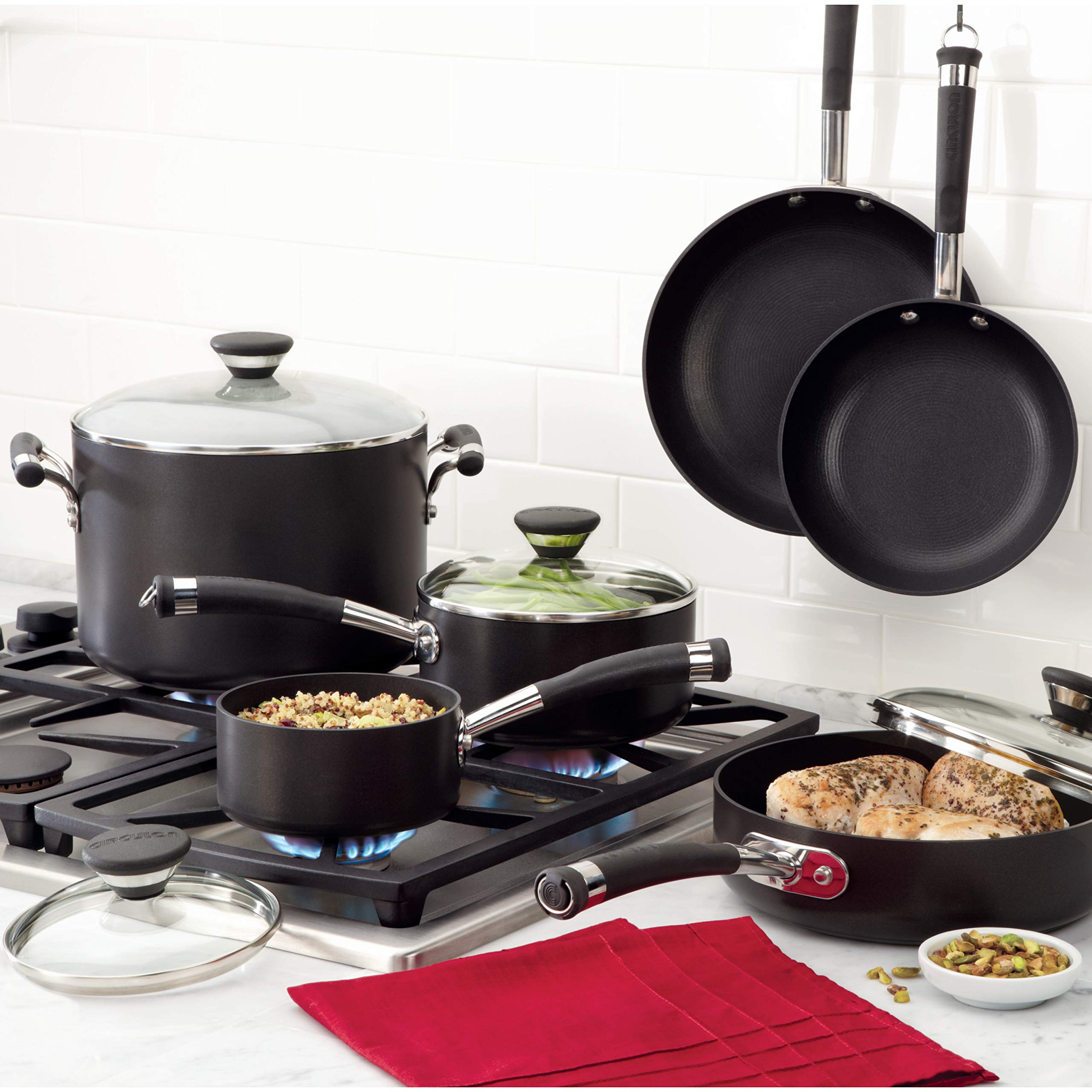 Circulon Acclaim Hard-Anodized Nonstick 4.5-Quart Covered Casserole by Circulon (Image #4)