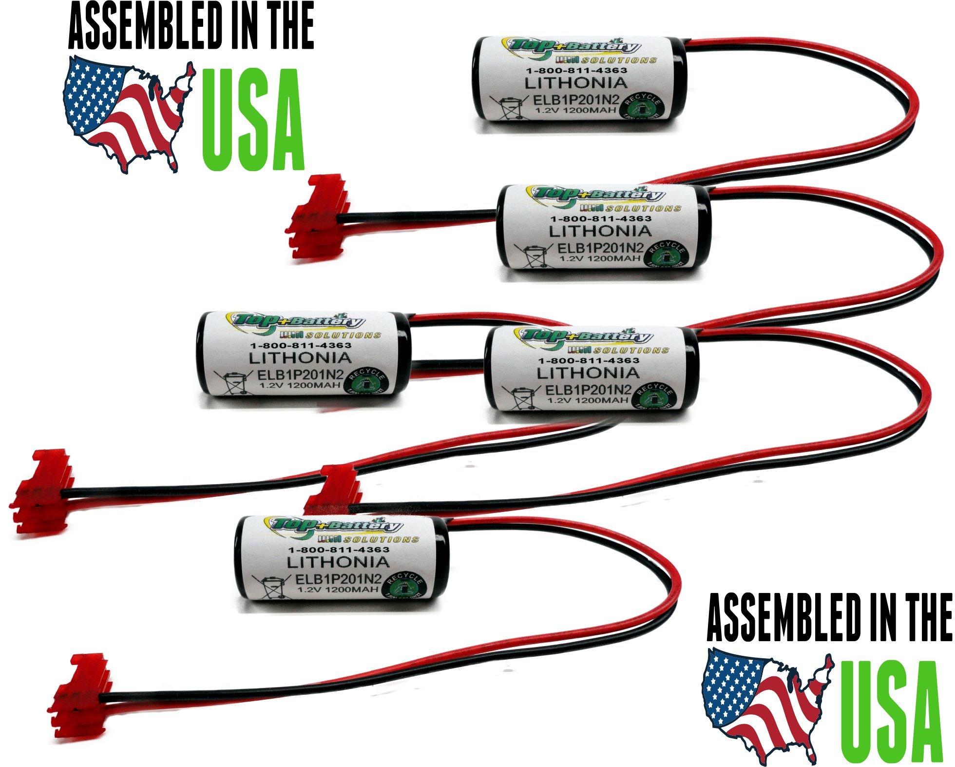 5pc Lithonia Emergency Lighting Battery for Model ELB1P201N, ELB1P201N2